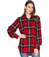 Yarn-Dye Brushed Viscose Long Sleeve Shirt