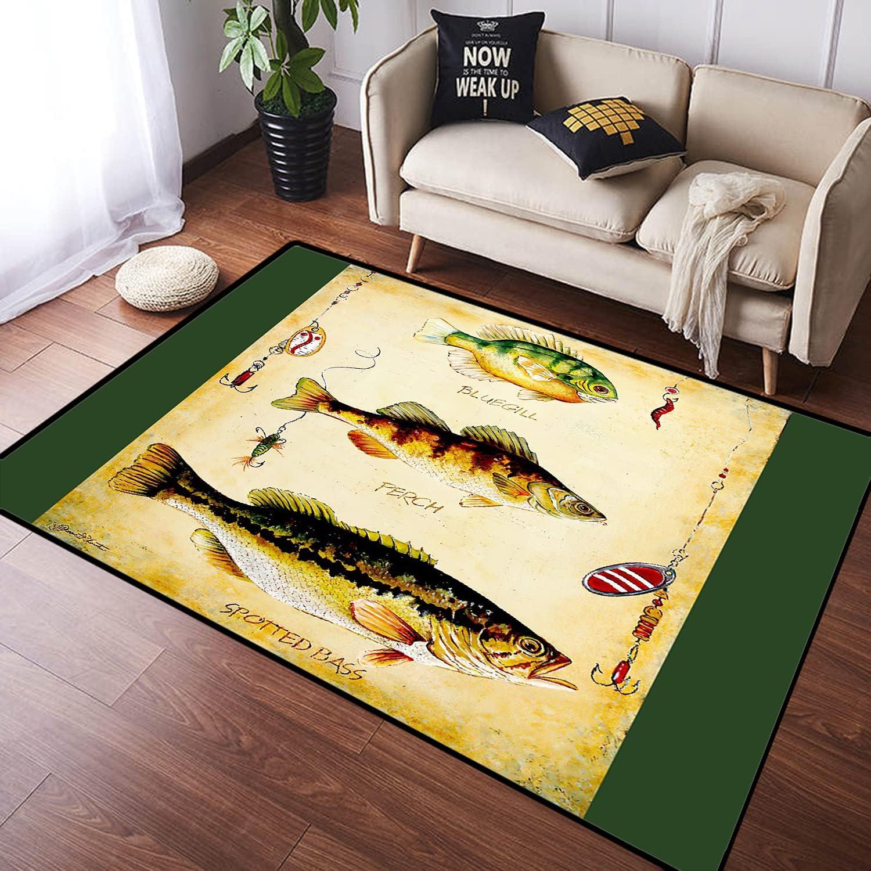 ZOMOY Bargain Long Floor Mat Challenge the lowest price of Japan ☆ Carpet Indoor TrioC Absorbent Non-Slip Fish