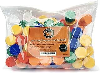 WildCow Dab Containers Silicone Bulk (100 pcs) 5ml Non Stick Wax Container Silicone Jars (Premium)