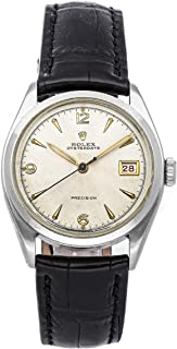 Oyster Date Mechanical (Hand-Winding) Ivory Dial Mens Watch 6094 (Certified Pre-Owned)