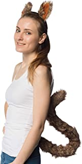 Squirrel Ears Headband and Extra Long Tail - Costume Accessories