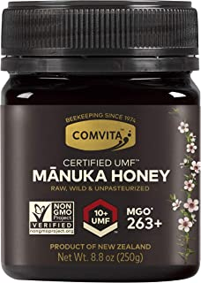 Comvita Certified UMF Raw Manuka Honey New Zealand's #1 Manuka Brand Premium Grade Non-GMO Superfood, Dark Amber, UMF 10+ ...