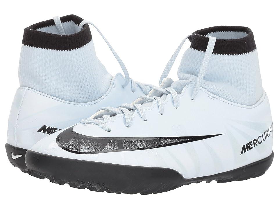 Nike Kids MercurialX Victory VI CR7 Dynamic Fit (TF) Boot (Little Kid/Big Kid) (Blue Tint/Black/White/Blue Tint) Kids Shoes