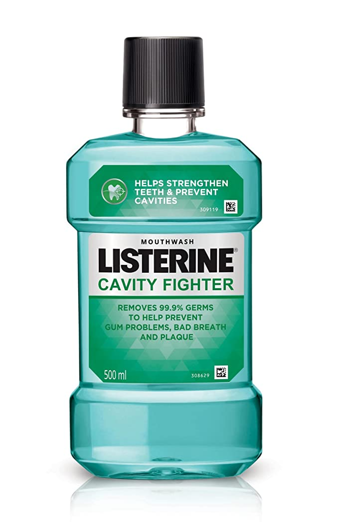 挽くランチョン生産的Listerine Cavity Fighter Mouthwash 500ml