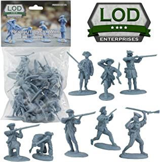 Revolutionary War Colonial Minutemen Plastic Toy Soldiers