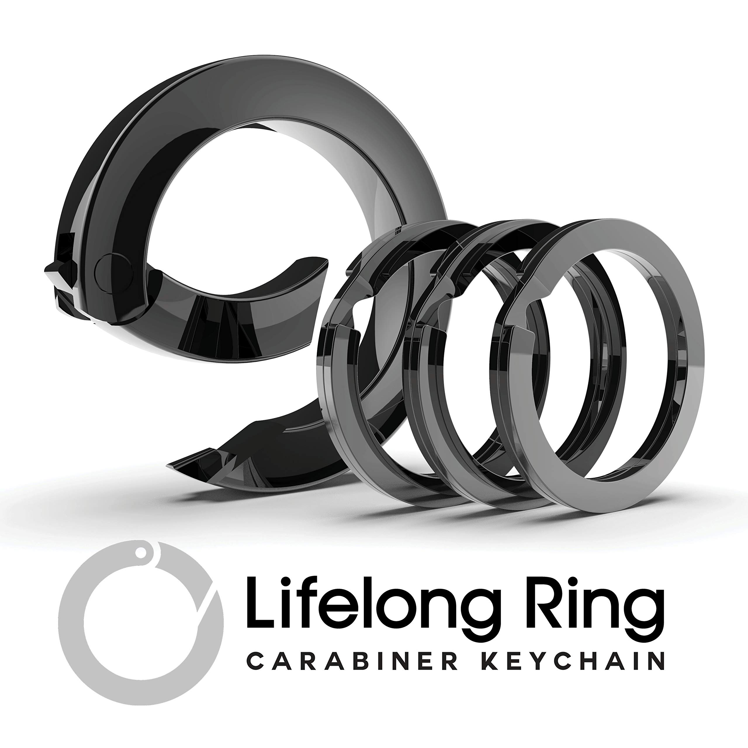 Lifelong Ring Carabiner Keychain Graphite