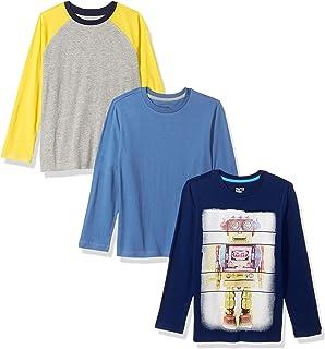 Amazon Brand - Spotted Zebra Boys' Toddler & Kids 3-Pack Long-Sleeve T-Shirts