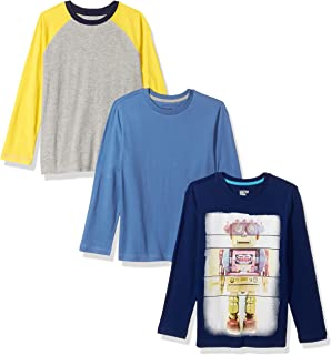 Amazon Brand - Spotted Zebra Boys' Toddler & Kids 3-Pack Long-Sleeve T-Shirts