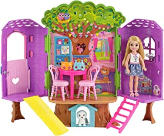 Barbie   Chelsea Doll and Treehouse Playset for Girls, Multi Color, FPF83
