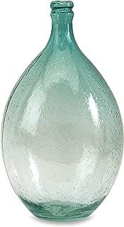 blue bubble glass vase