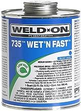 Weld-On 12495 Quart 735 Wet 'R Dry PVC Cement, Blue, 1-Pack