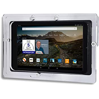 TABcare Security Anti-Theft Acrylic VESA Enclosure for Amazon Tablet with Free Wall Mount Kit (Clear, Fire HD 6)