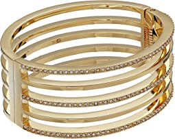 Vince Camuto - Crystal Pave and Metal Hinge Bangle Bracelet