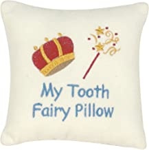 C&F Home 6 x 6 Saying Pillow w/Pocket, My Tooth Fairy White