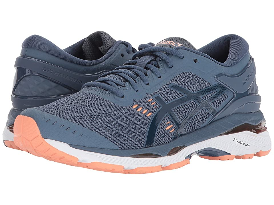 ASICS GEL-Kayano(r) 24 (Smoke Blue/Dark Blue/Cantaloupe) Women