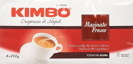 Kimbo L'espresso di Napoli, Caffè Macinato, Fresco - Confezione da 4 x 250 gr