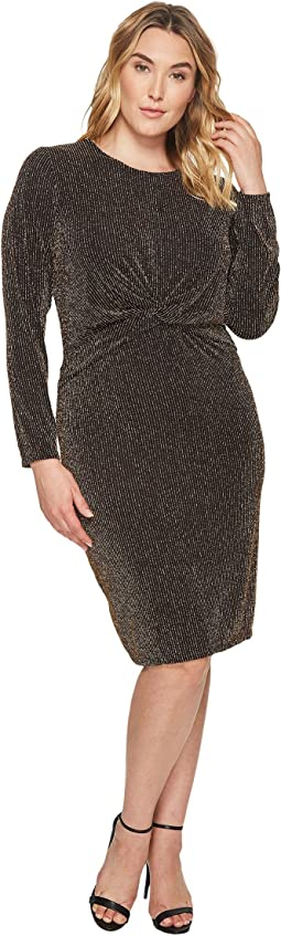 MICHAEL Michael Kors - Plus Size Twist Waist Long Sleeve Dress