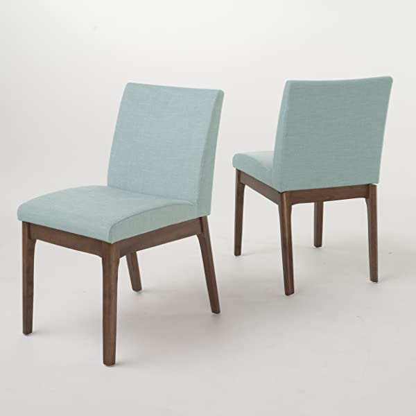 Christopher Knight Home 298986 Kwame Fabric Dining Chair Set Of 2 Mint