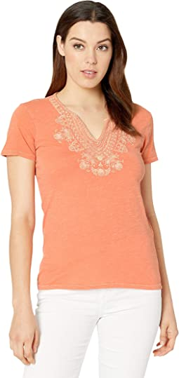 0a976e8fab144d Lucky brand embroidered woodstock tee | Shipped Free at Zappos