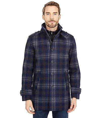 Selected Homme Noah Wool Coat (Dark Navy/Brown) Men