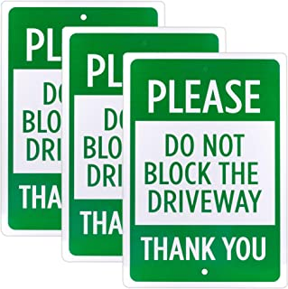Do Not Block The Driveway Sign 3-Pack | 18