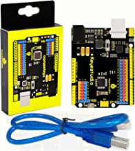 KEYESTUDIO Development Board for Arduino UNO R3 ATmega328P ATMEGA16U2 with USB Cabl, 1A Drive Current