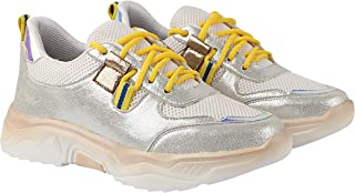 Do Bhai Women Synthtic Material Lace Up Sports Shoes. Running Shoes, Walking Shoes(Honey)