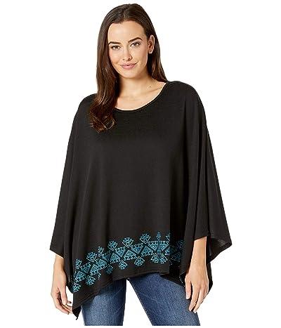Roper 3611 Sweater Knit Poncho (Black) Women