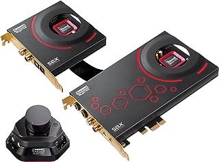 Creative Sound Blaster ZxR PCIe Audiophile Grade 游戏声卡,带有高性能耳机扩音器和桌面音频控制模块