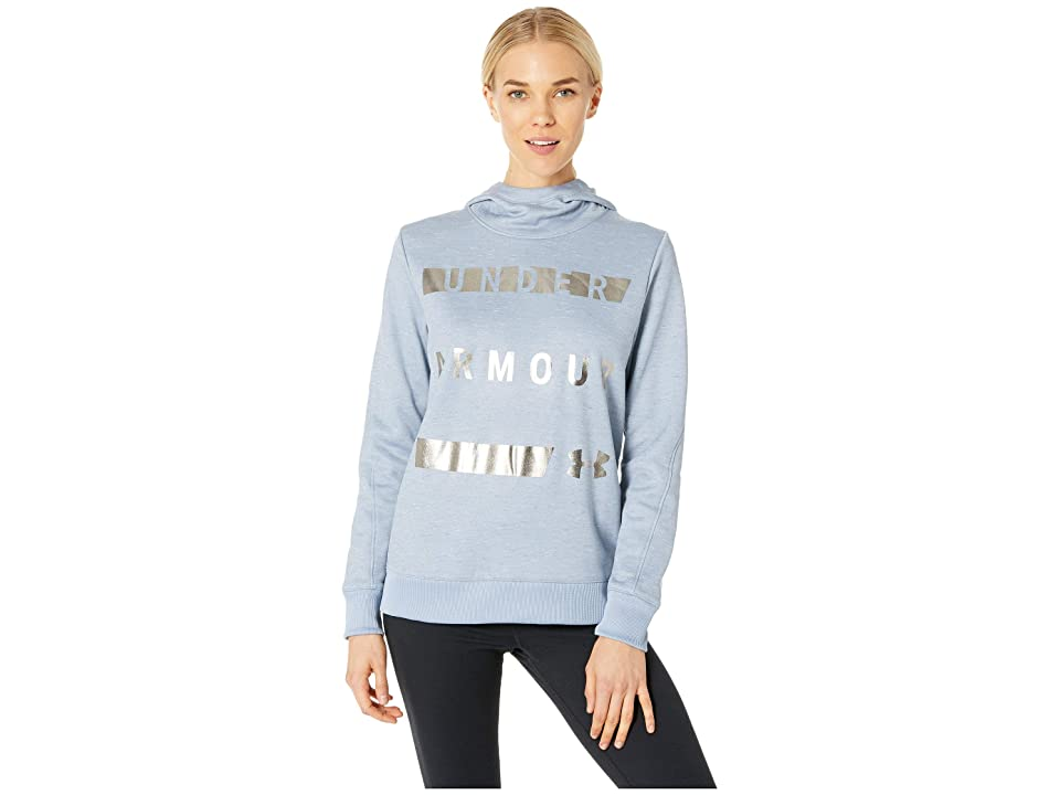 Under Armour Synthetic Fleece Pullover Wordmark (Washed Blue/Washed Blue/Utility Blue) Women
