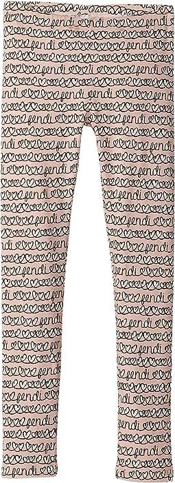All Over Heart Print Leggings (Little Kids)
