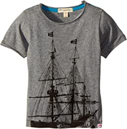 Appaman Kids - Pirate Ship Extra Soft Short Sleeve Tee (Toddler/Little Kids/Big Kids)