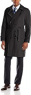 معطف Stacy Adams رجالي مطر مزدوج الصدر ذو الطول الكامل