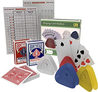 plastic pinochle playing cards