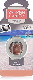 Yankee Candleスマート香りVentクリップOdor Neutralizing車AC Air Freshener、ピンクSands Smart Scent Car Vent Clip Air Freshener ピンク 1304388
