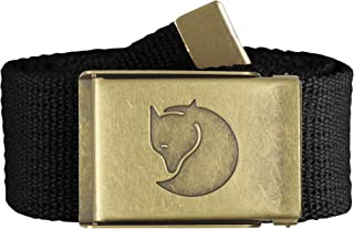 Fjallraven Canvas Brass Belt 4 Cm, Unisex Adulto, Black, 1 Size