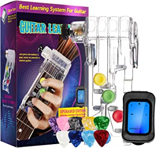 Best Guitar Beginner with Chromatic Tuner & 10 Pcs Guitar Picks, One-Key Chord Assisted Learning Tools for Adults & Children Trainer Beginners Review