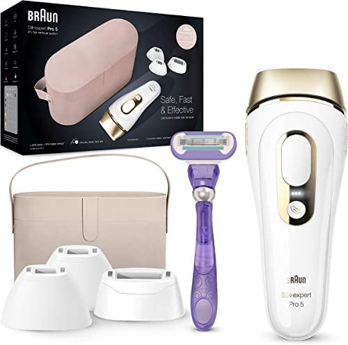 Braun - Silkexpert pro 5 pl5347 depiladora luz pulsada ipl, depilación permanente del vello visible, mujer y hombre, ...