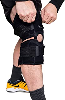 Onyx Cool Knee - Black; Cool Pack Therapy for Compression Support & Pain Relief; Refrigerated Wrap
