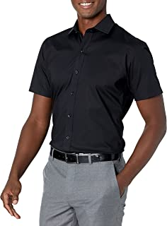 Buttoned Down Mens Slim-fit Stretch Spread Collar Short-Sleeve Non-Iron Shirt