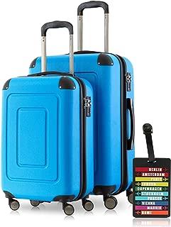Happy Trolley 1601 Bleu - HT-1601-2-28-DB Valise Bleu fonc/é
