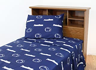 College Covers Penn State Nittany Lions Printed Sheet Set - Solid