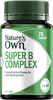 Nature's Own Super B Complex - Supports energy levels - Relieves tiredness - Maintains heart health, 75 Tablets