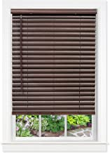 Ready Made White PRIVACY Venetian Blinds 50mm Econo Wood PVC Timber Look Blind