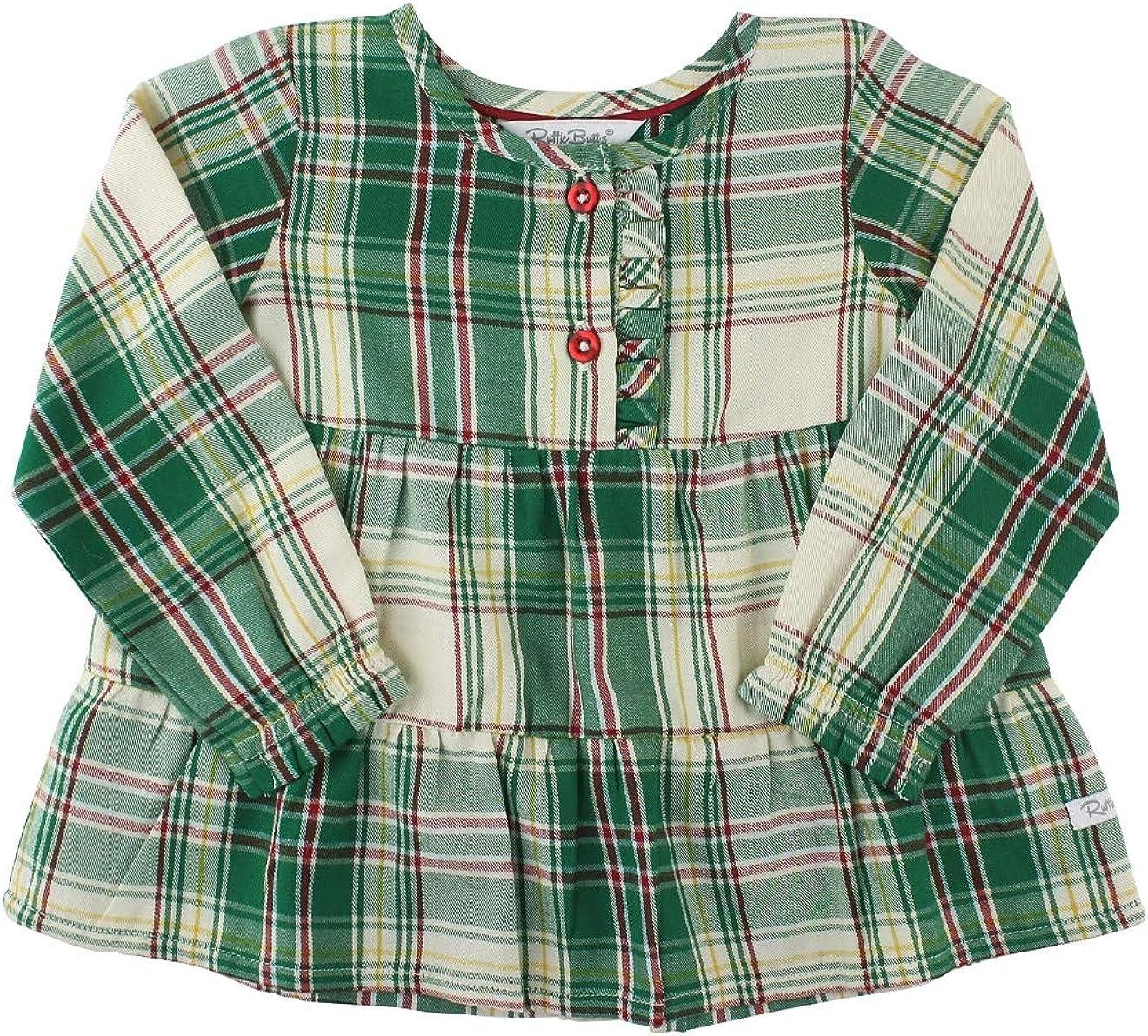 RuffleButts Baby/Toddler Girls Tiered Henley Top