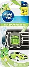 Ambi Pur Car Mini Clip Car Air Freshener New Zealand Springs, 2 Milliliters, Packof6