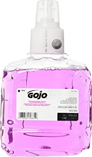 GOJO 1912-02 Antibacterial Plum Foam Hand Refill, Single Unit, 1200 mL