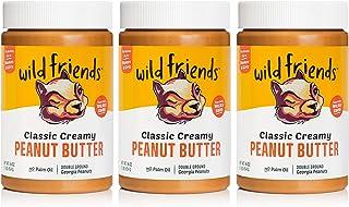 Wild Friends Foods Classic Creamy Peanut Butter, 16oz Jars, Gluten Free, Palm Oil Free, 3 Count