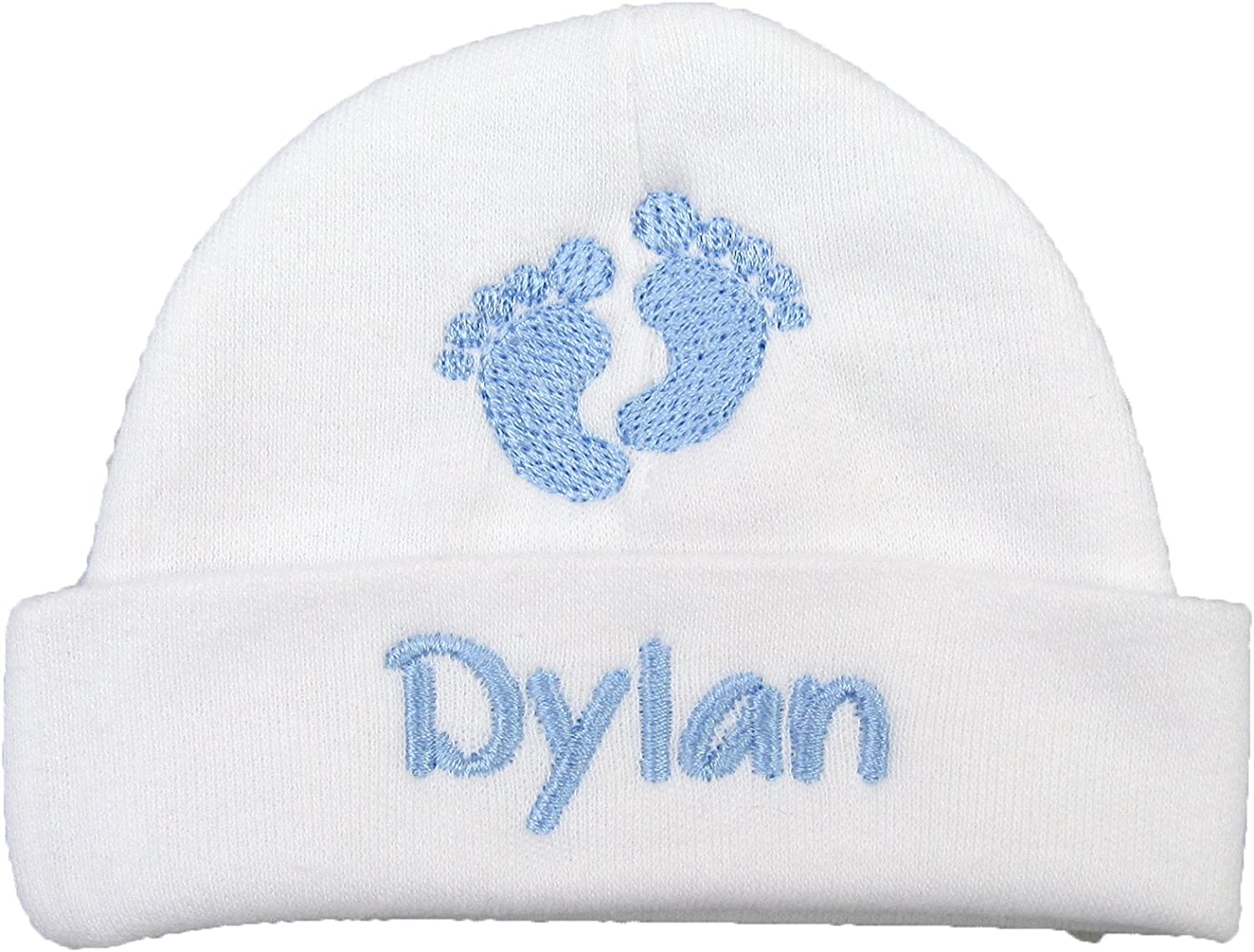 Ava's free shipping Miracles Personalized Baby store boy hat Embroidered Footpr with