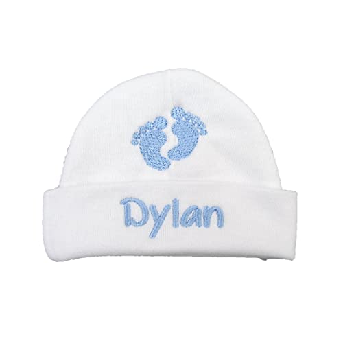 91a1f4b2926 Ava s Miracles Personalized Baby boy hat with Embroidered Footprints - Preemie  boy hat